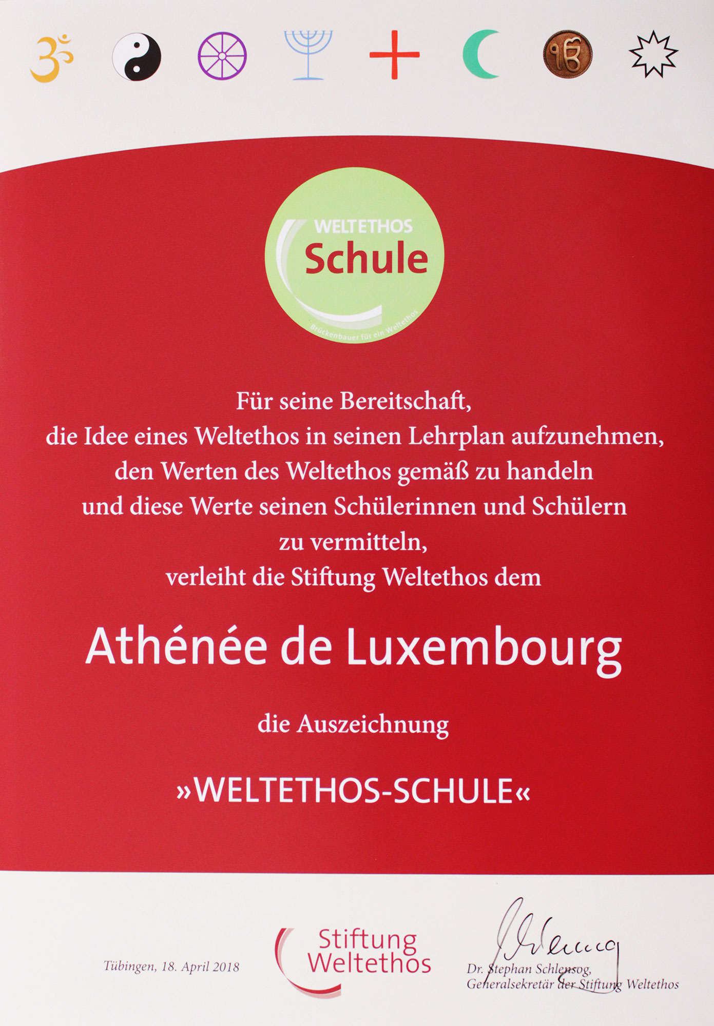 AL WeltethosSchule